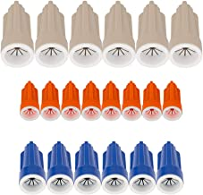 Wire Connectors Kit Waterproof Nuts Easy Outdoor Seal Elec Wire Nuts - Easy Twist On Application, 3 Sizes (20-packing)