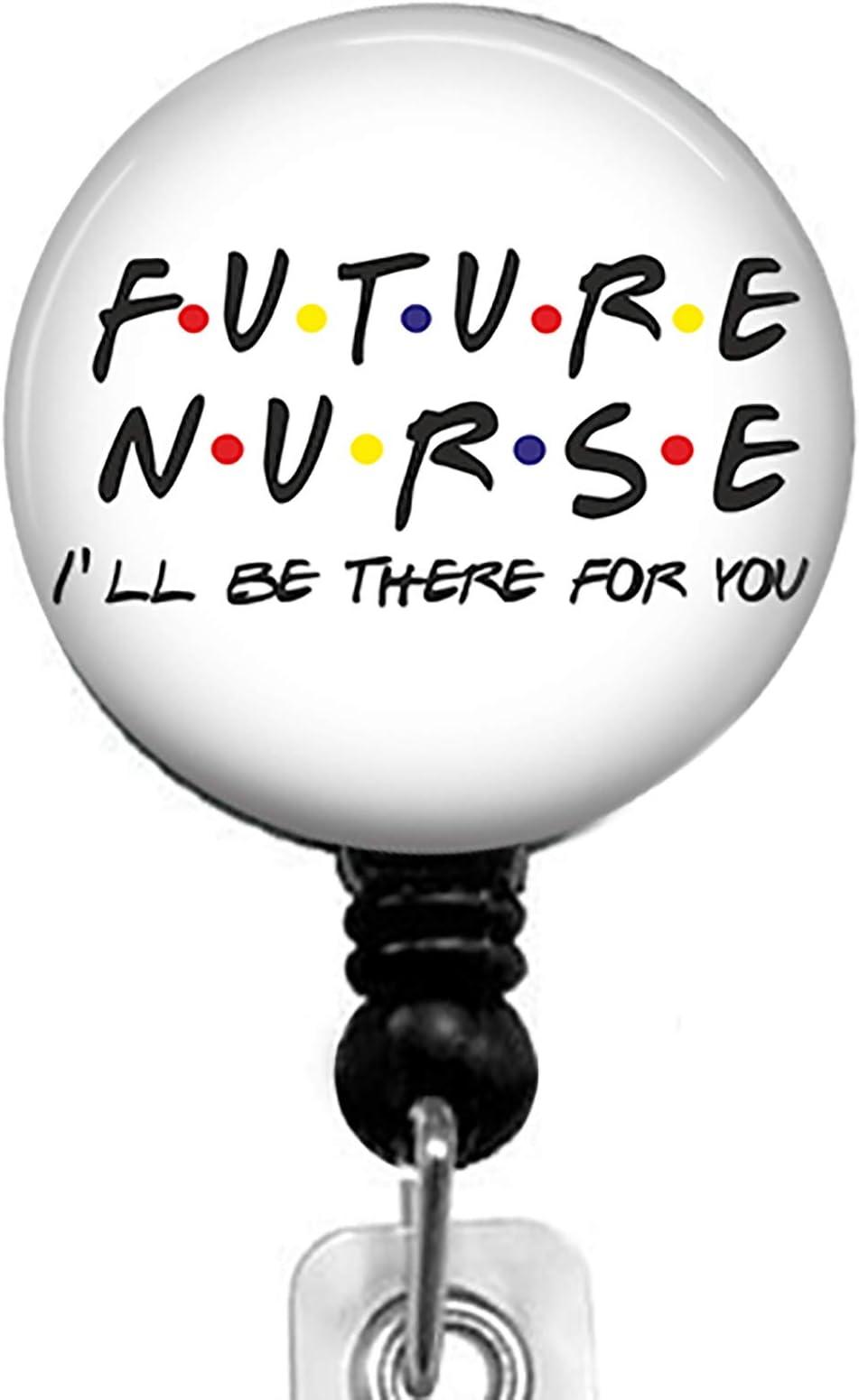 Nurse Badge Holder Nursing Badge Holder Personalized Nurse Angel Blue Retractable ID Badge Reel Name Badge Holder