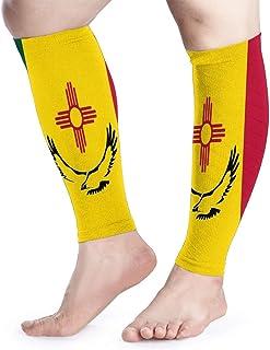 Manga de compresión para pantorrillas Bandera del estado de Nuevo México Calf Shin admite calcetines de compresión para piernas - Hombres Mujeres