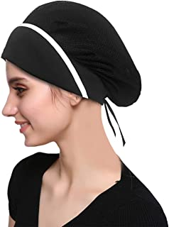 4 Pack Chef Hat Kitchen Cooking Chef Cap Adjustable Food Service Hair Nets Reusable Washable Mesh Bouffant Beanie