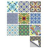 Sticker Mural de tuiles de Style Portugais décoration Murale Art Autocollant...