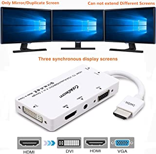 CableDeconn HDMI to VGA DVI HDMI with Audio Adapter Converter Cable Micro USB 3.5 mm for Laptops HDMI Computers Simultaneo...