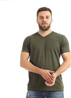 Kady Men V-neck short sleeves T-shirt-dk olive-m