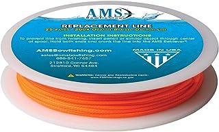 AMS Bowfishing 25-Yards 200-Pound Bowfishing Line, Orange…
