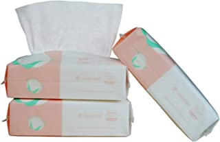 Careboree Ultra Soft Dry Baby Wipes Unscented Multi-Purpose Pure Cotton Tissue for Sensitive Skin 300 Count