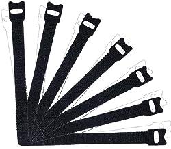 """Abraçadeiras de cabo   100 peças   8 x 1/2"""" tiras organizadoras de cabos design fino pré-cortado gerenciamento de fios par..."""