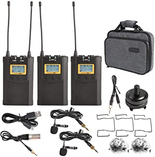 Bigking draadloze microfoonontvanger, WM100 Plus UHF 48-kanaals draadloze microfoonsysteem ontvanger kit