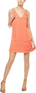 Sanctuary Women's Scarlett Eyelet Embroidered A-Line Dress Cuban Coral Small