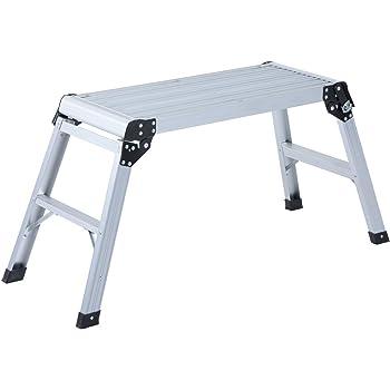 HOMCOM Banco Plegable Plataforma de Trabajo Escalera de Aluminio 150Kg Escalon Taburete: Amazon.es: Deportes y aire libre