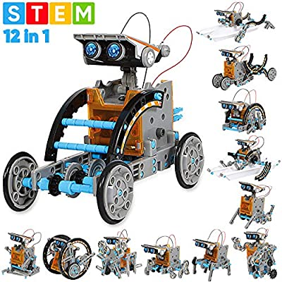 Sillbird STEM 12-in-1 Education Solar Robot Toys-190 Pieces DIY Building Science Experiment Kit for kids Aged 8-10+,Solar Powered by the Sun from Shantoushi Chengxin Brand Management Co., Ltd