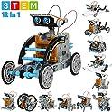 190-Piece Sillbird 12-in-1 STEM Education Solar Robot Toys