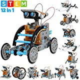 Sillbird STEM 12-in-1 Education Solar Robot Toys -190 Pieces DIY Building Science Experiment Kit for Kids Aged...