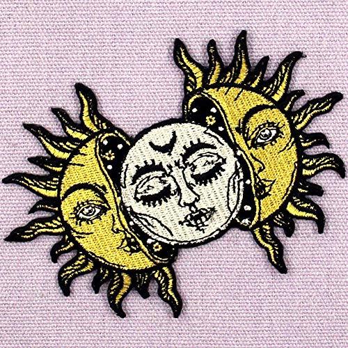 dise/ño de El sol Parche termoadhesivo para la ropa