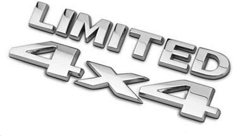 Dsycar 4 X 4 Limited Chrome Logo 3d Aufkleber Emblem Logo Aufkleber Namensschild Abzeichen Dekoration Für Universal Cars Moto Bike Auto Styling Dekorative Zubehör Silber Auto