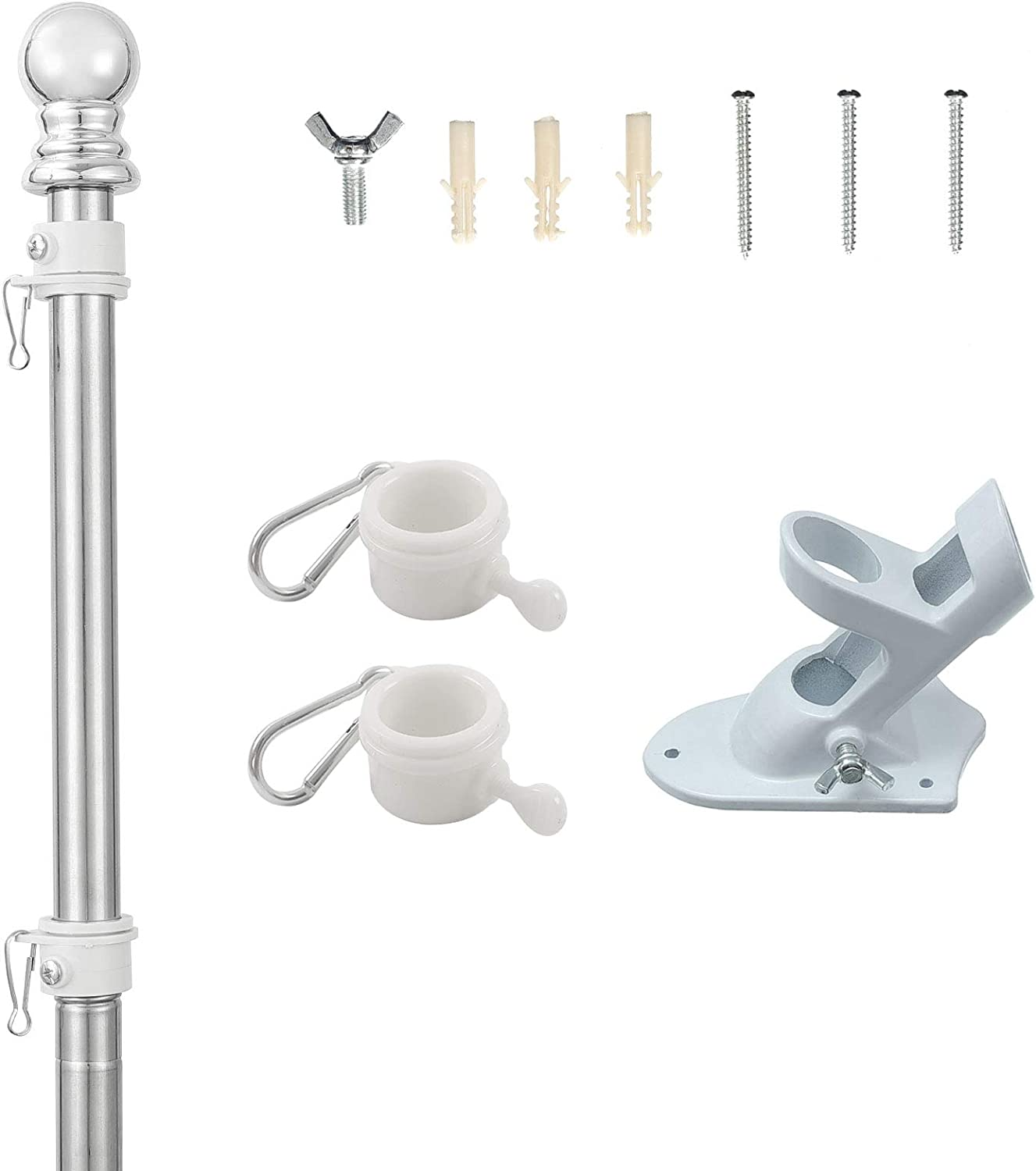 lowest price Flag Pole Kit - 5FT Adjustable for Limited price R American Flagpole