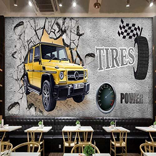 Muurschilderingen fotobehang gepersonaliseerd muur beton muur auto restaurant bar behang cafeteria achtergrond muur 200 x 140 cm.