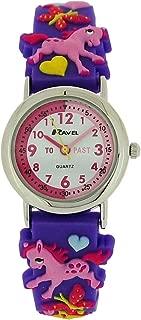 Ravel Girls-Kids 3D Love My Pony Time Teacher Purple Strap Watch R1513.70