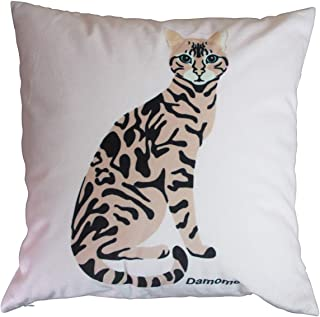 Damome Ocelot Velvet Soft Solid Decoration Square Throw Pillow Cover Set Cushion Cover for Dining Room Sofa Bedroom Car 18...