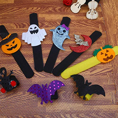 YIAI Halloween Wrist Slap Armd Kürbis Fledermaus Dekoration Clap Ring Slip Spider begünstigt Kids Party Kinder für Kinder