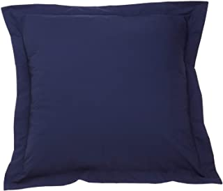 European Pillow Shams Set of 2 European 28X28 Inch Navy Blue 600 Thread Count 100% Natural Cotton Pack of Two Pillow Shams Super Soft Decorative European 28