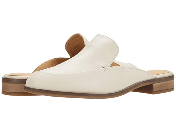 Retro Vintage Flats and Low Heel Shoes Clarks Trish Plant Ivory Leather Womens Shoes $57.99 AT vintagedancer.com