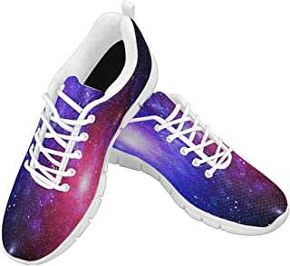 Zenzzle Womens Running Shoes Starry Galaxy Pattern Casual Lightweight Athletic Sneakers Size 6-12