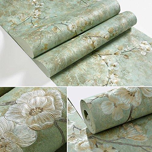 ZYCLSSRV American Vintage tapeten,3D DREI-dimensionale Selbstklebend Äste Blumen Wandsticker-A 0.53 * 10m