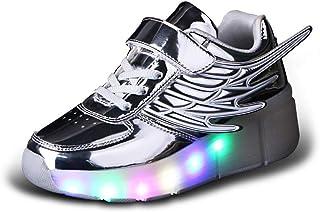 93f39e03 Led Luces Zapatos con Ruedas para Pequeños Niño y Niña Automática Calzado  de Skateboarding Deportes de