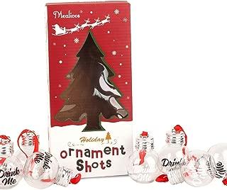 MyMealivos Festive Boozeballs Fillable Christmas Baubles, Medium, Clear