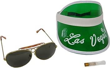 Raoul Duke Costume Las Vegas Green Visor Sunglasses Kit