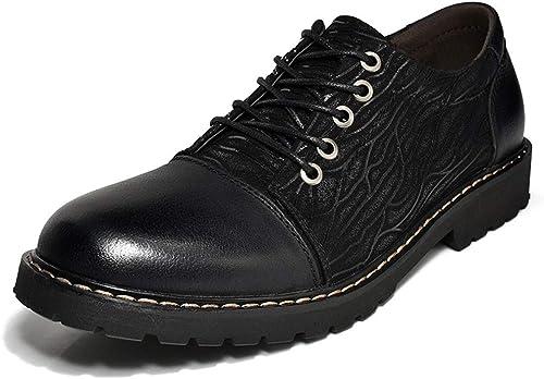 JESSIEKERVIN YY4 Chaussures en Cuir Pointues et habillées pour Hommes Chaussures en Cuir Brooke (Couleur   Noir, Taille   42)