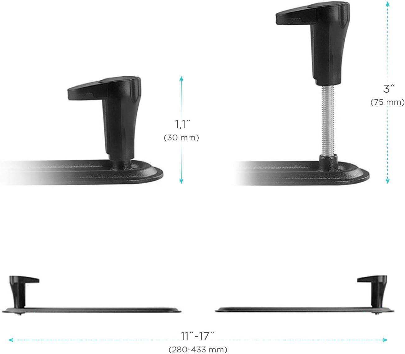 "ONKRON VESA Mount Bracket Non-VESA Monitor Arm Mounting Kit for Screen 17"" to 27- inch VESA 75x75 mm"