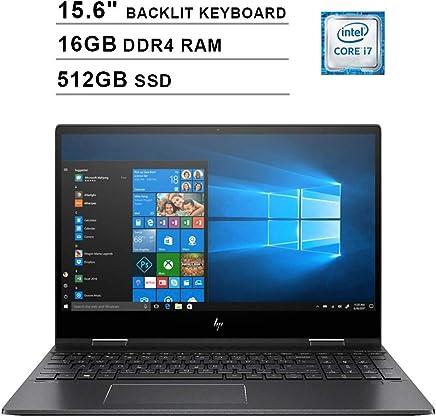 $1027 » 2019 HP Envy X360 2-in-1 15.6 Inch Touchscreen Laptop (AMD Quad-Core Ryzen 7, AMD Radeon RX Vega 10, 16GB RAM, 512GB SSD, Backlit Keyboard, WiFi, Bluetooth, HDMI, Windows 10 Home) (Black)