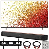 LG 86NANO75UPA 86 Inch Nanocell LED 4K UHD Smart webOS TV (2021) Bundle with Deco Gear Home Theatre Soundbar with Subwoofer, Wall Mount Accessory Kit, 6FT 4K HDMI 2.0 Cables and More