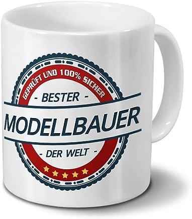 Preisvergleich für Tasse mit Beruf Modellbauer - Motiv Berufe - Kaffeebecher, Mug, Becher, Kaffeetasse - Farbe Weiß
