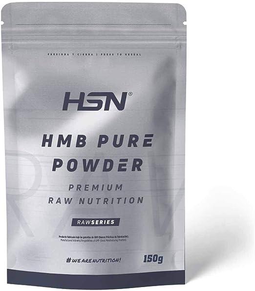 HMB Puro de HSN | Para Ganar Masa Muscular, Anticatabólico, Mejora el Rendimiento Deportivo | Vegano, Sin Gluten, Sin Lactosa, En Polvo, 150 gr