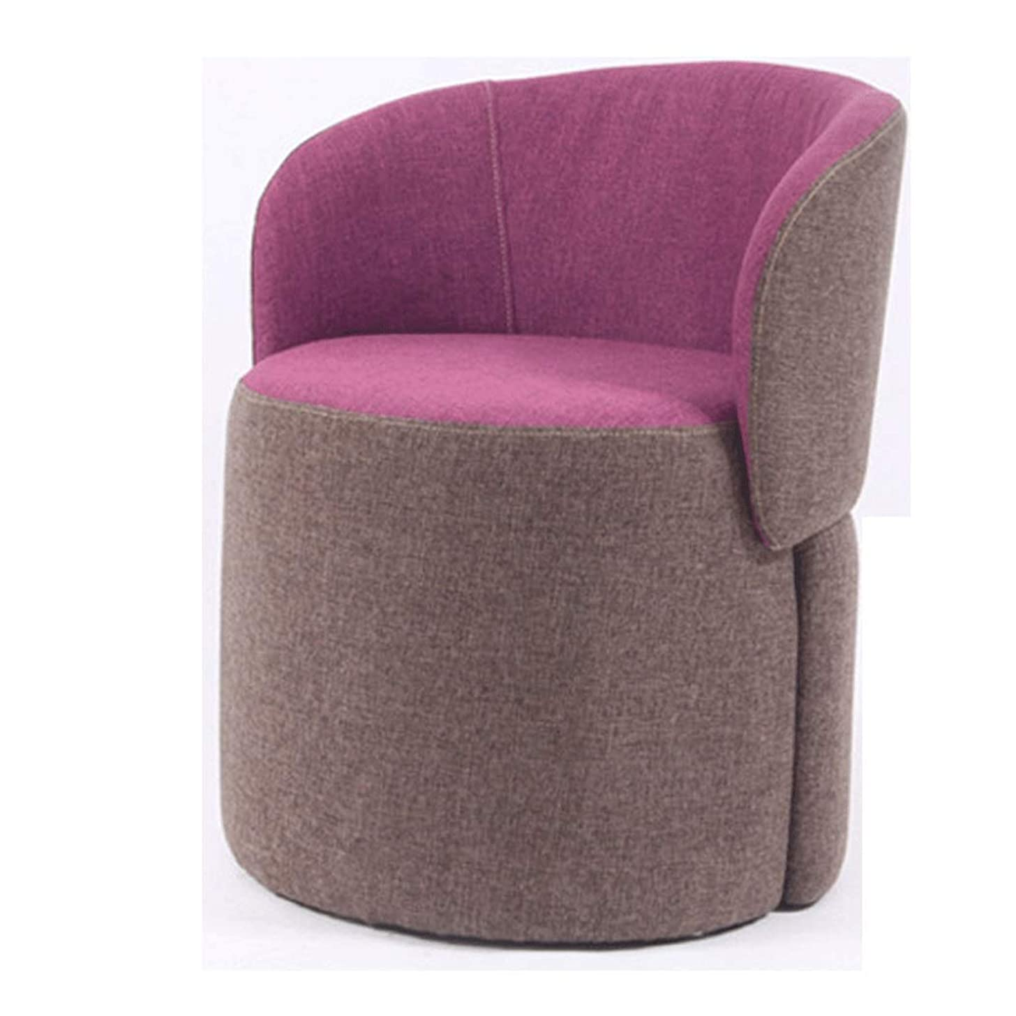 YONGYONG-hammock Change Shoes Stool Solid Wood Stool Fabric Backrest Sofa Chair Modern Minimalist Japanese Balcony Sofa (Color : Purple, Size : 5066CM)
