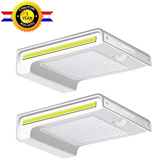 CINOTON Solar Lights Outdoor, Solar Wall Light Motion Sensor, Waterproof LED Security Lights 72 LED with 160° Wide Lighting Angle for Garage, Yard, Front Door, Corridor, Driveway, Porch 2 Pack