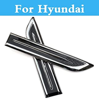 ChenghuaguoChenghuaguo Abs Chrome Car Sticker Styling Badge Car Styling for Hyundai Tucson Terracan Tiburon Santa Fe Solaris Sonata Car Exterior