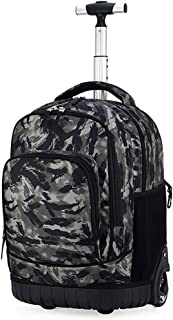 Rucksack With Wheels Cabin Size Boys Girls Backpack Wheeled School Student Books Laptop Travel Trolley Bag Rolling Trolley Bag (Color : E, Size : 31x21x46cm)