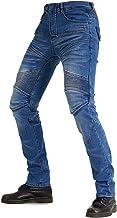 Motorbroek Voor Heren, Denim Jeans Slijtvaste Winddichte Ademende Scheurvaste Broek Met 2 Verwijderbaar Kniebeschermers