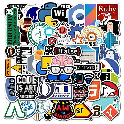 YZFCL Programmer Geek Internet Java Sticker Skateboard Guitar Suitcase Frozen Laptop Motorcycle Doodle Classic Toy Sticker 50pcs