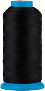 Selric [1500 Yards/Coated/No Unravel Guarantee/21 Colors Available] Heavy Duty Bonded Nylon Threads #69 T70 Size 210D/3 for Upholstery, Leather, Vinyl, and Other Heavy Fabric (Black)