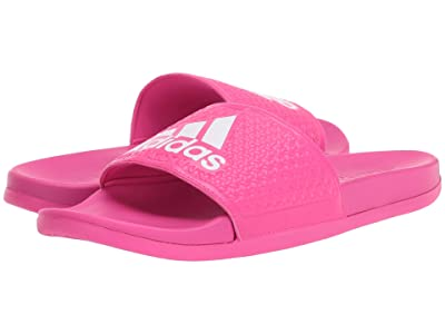adidas Kids Adilette Comfort K (Toddler/Little Kid/Big Kid) (Shock Pink/White) Girls Shoes