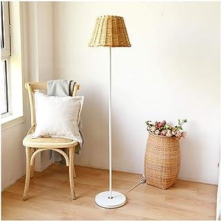 Lampe sur pied Lampadaire en rotin Nordic Pays Artiste Décoration Salon Canapé Lampe Piano Chambre lampe de lecture,Lampes...