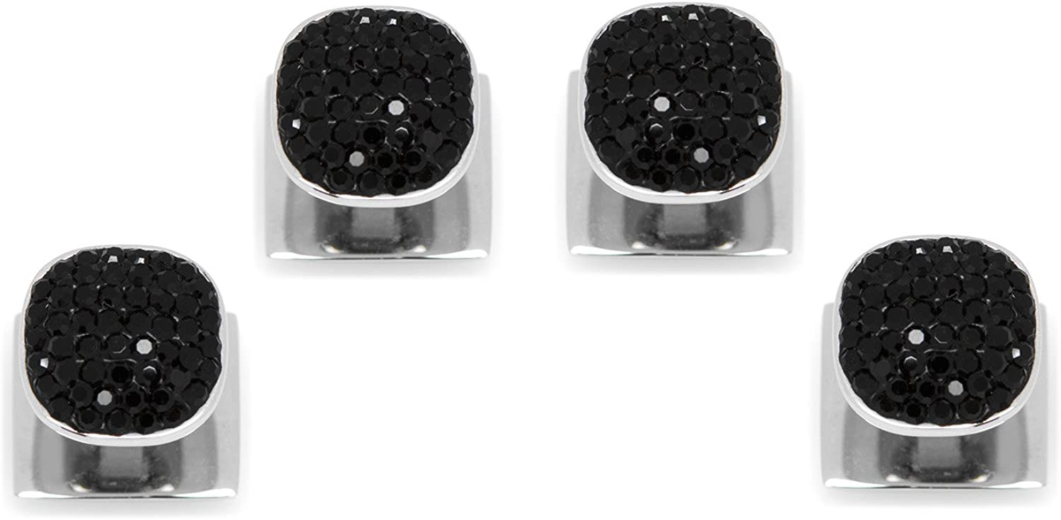 Ox and Bull Trading Co. Stainless Steel with Black Pave Crystal Studs