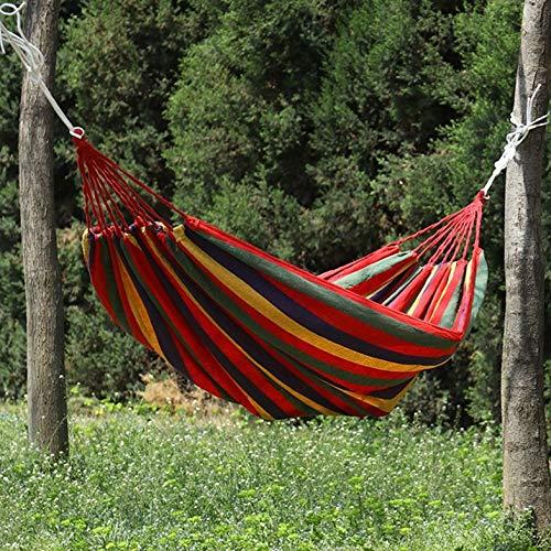 Múltiples hamacas de algodón para Exterior 280x150 cm, Capacidad de Carga de hasta 250 kg Canvas Single Double Hammock, Portátil 2 Personas al Aire Libre Camping jardín Playa Viaje Lona Hamaca