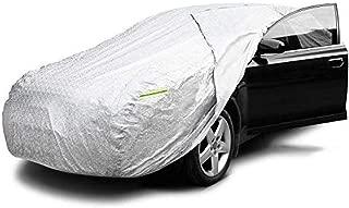 wscmd Bâche de Voiture Impermeable Housse de Protection Auto avec Ouverte Latérale Pour Cabine, la Doublure en Coton, Contre la Pluie, la Saleté