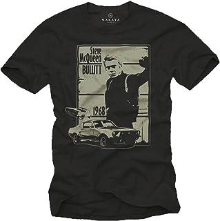 MAKAYA Camiseta Negra Hombre - Bullitt
