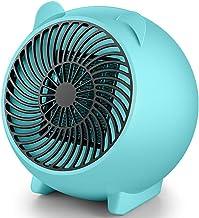 CCFCF Mini Calefactor Cerámico,Calentador De Espacio Eléctrico Portátil,Personal para Cuarto/Baño/Oficina,Azul